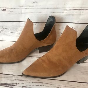 Shoes - ZARA Trafaluc Suede and Leather Booties
